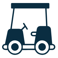 Golf buggies available to transport equipment around site
